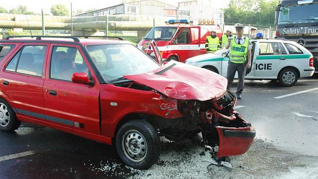 Nehoda v Nákladní ulici