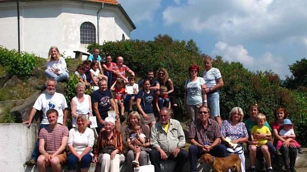 Vítězná rodina se sešla z Teplic, Ústí, Litoměřic, Roudnice a Prahy.