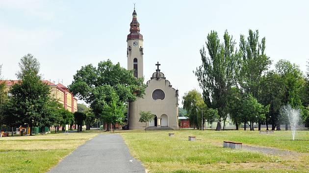 Kostel Církve československé husitské v Duchcově.
