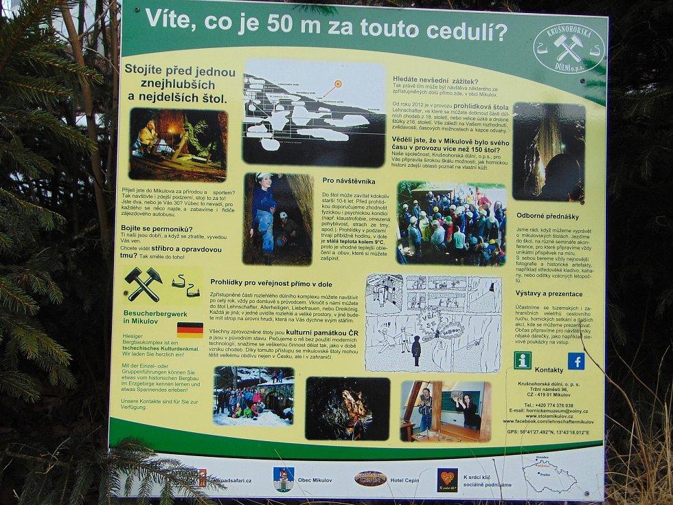 Prohlídková štola Lehnschafter je jedno z nejstarších důlních děl.