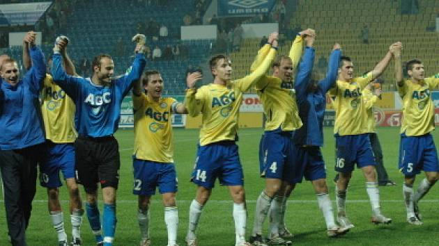 Z utkání FK Teplice proti Viktorii Žižkov