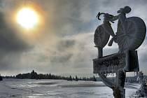 Zima na Cínovci.