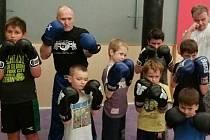 Miroslav Pokorný s malými kickboxery
