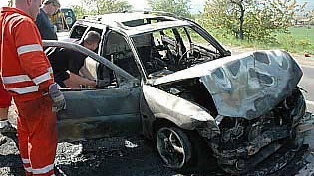 Nehoda z Duchcovské ulice v Teplicích.