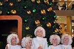 Tradiční slet andělů se konal před OC Galerie na Náměstí Svobody.
