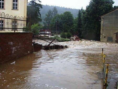 Povodeň 2002, snímek z 13.8.2002