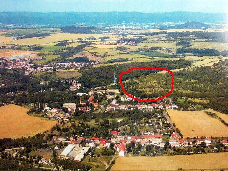 Lokalita ve Světci, kde byly bez povolení vykáceny stromy