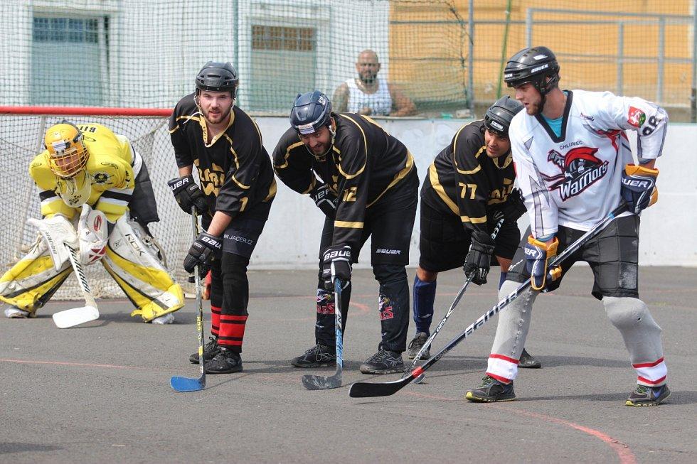 Hokejbalový turnaj v Krupce - Krupka vs. Chlumec