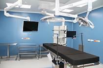 Nový pavilon v teplické nemocnici, budou v něm nové operační sály, centrální sterilizace a ARO.
