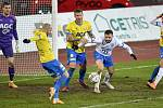 Utkání 21. kola první fotbalové ligy: FC Baník Ostrava – FK Teplice, 27 února 2021 v Ostravě. (střed) Tomáš Zajíc z Ostravy.