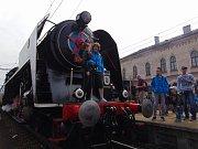 Oslavy 160 let Ústecko-teplické dráhy na nádraží v Teplicích.