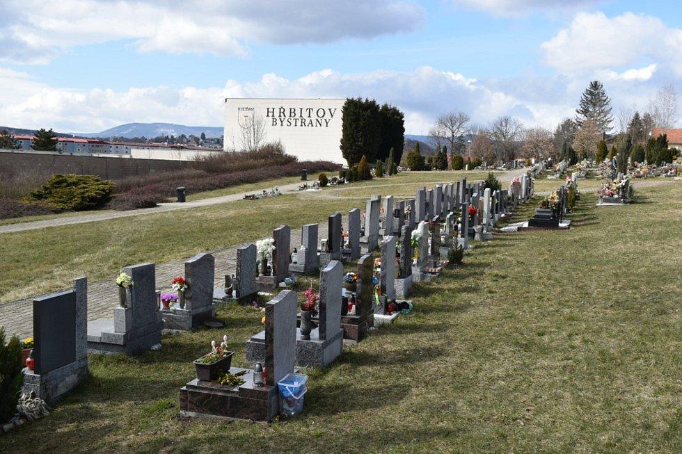 Hřbitov Bystřany.