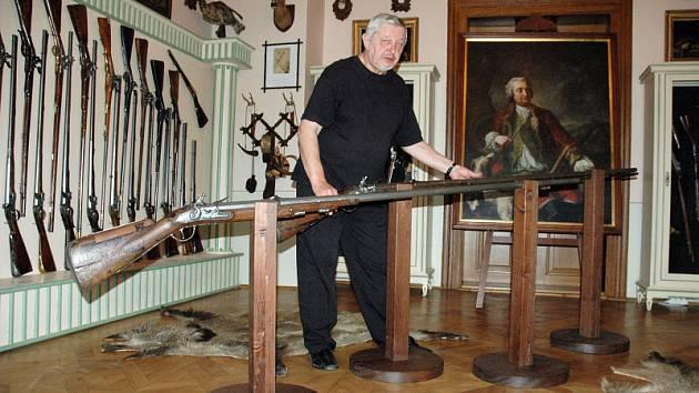 Lovecká zbrojnice na duchcovském zámku - nová část expozice