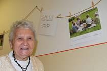 Představení kalendářů v Domově důchodců Bystřany, vernisáž výstavy.