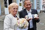 Zlatou svatbou v sobotu potvrdili padesátileté manželství Jaroslav a Věra Kuberovi.