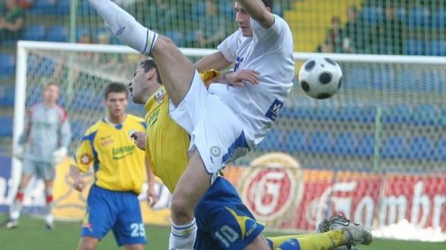 Z utkání Zlín - Teplice