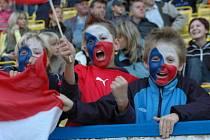 Fotbalové utkání české reprezentace s FK Teplice