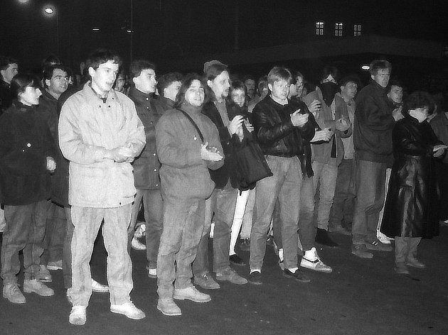 Ekologické demonstrace, které se konaly od 11. do 13. listopadu 1989 v Teplicích.