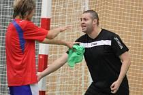 Trénink FC Balticflora Teplice. Patrik Mažári a Guilherme Ladeira