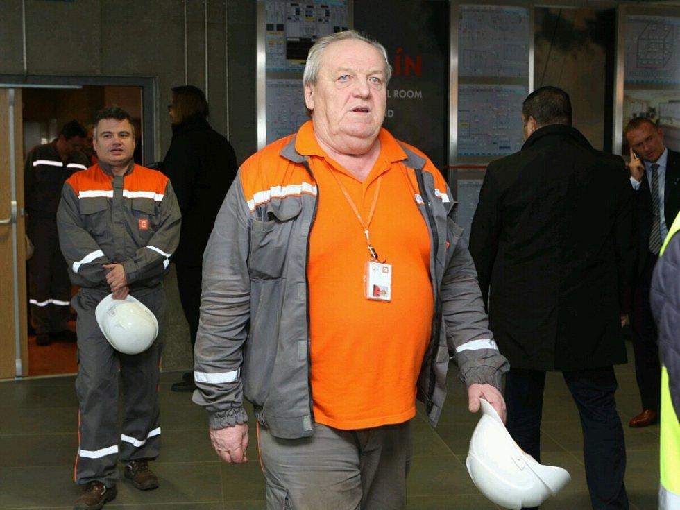 Miloš Zeman navštívil elektrárnu v Ledvicích.