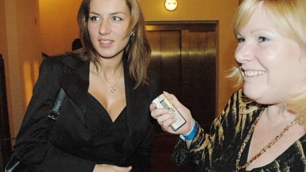Lucie Králová při rozhovoru