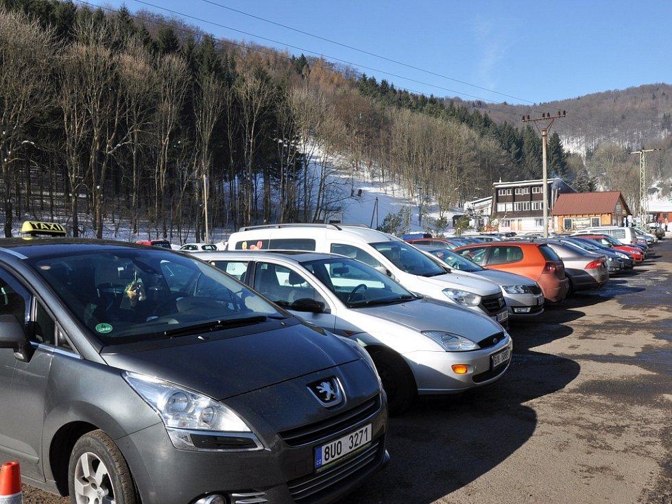 Parkování v Mikulově.
