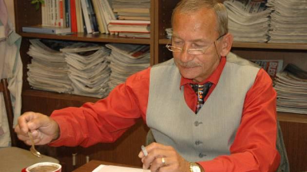 Jarodlav Kubera při on-line rozhovoru v redakci teplického deníku