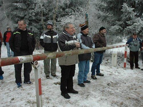 Odstranění poslední hraniční závory v České republice