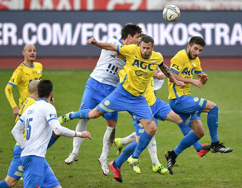 Utkání 21. kola první fotbalové ligy: FC Baník Ostrava – FK Teplice, 27 února 2021 v Ostravě. (střed) Jaroslav Svozil z Ostravy