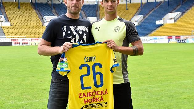 David Černý (vpravo) a sportovní ředitel FK Teplice Štěpán Vachoušek.