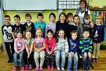 Na fotografii jsou žáci ze ZŠ Koperníkova v Teplicích, 1.A třída paní učitelky Aleny Štemberové
