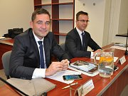 Z ustavujícího zastupitelstva v Bílině, Pavel Pastyřík a Petr Rosenkranz.