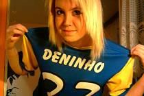 Denisa Dražanová v dresu Centurions Teplice
