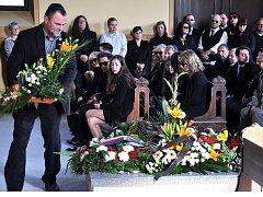 Pohřeb Oldřicha Látala, předsedy Židovské obce Teplice