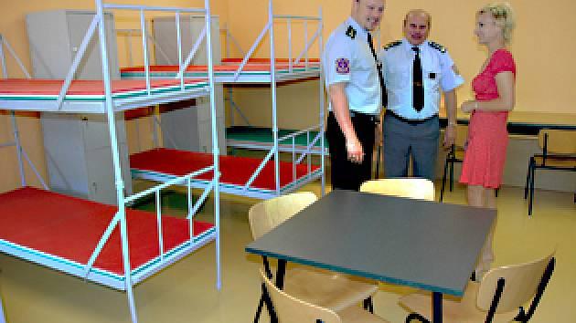 Nová cela v teplické vazební věznici.