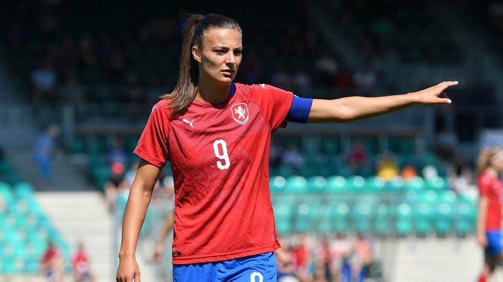 Lucie Voňková v reprezentačním dresu.