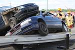 Krajské kolo soutěže ve vyprošťování zraněných osob z havarovaných vozidel.