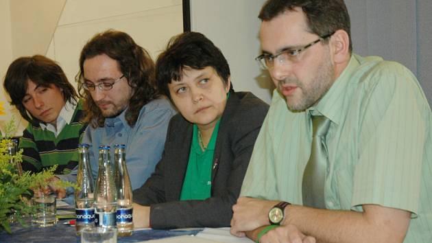 Konference Strany zelených proběhla v sobotu v Dubí.