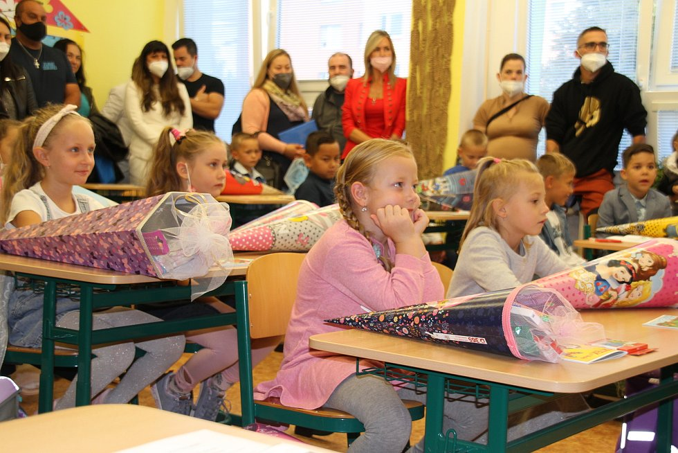 První školní den v ZŠ Edisonova Teplice.