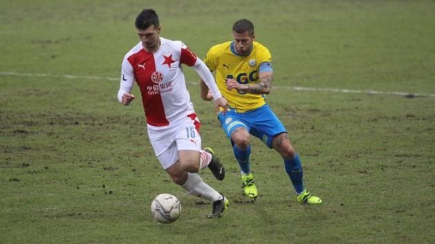 Tepličtí fotbalisté remizovali se Slavií doma 1:1.
