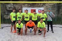 Tým SK Bosnia Online EU Teplice získal zlato v plážové kopané