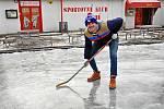 Kluziště ve sportovním areálu Rudolfova huť.