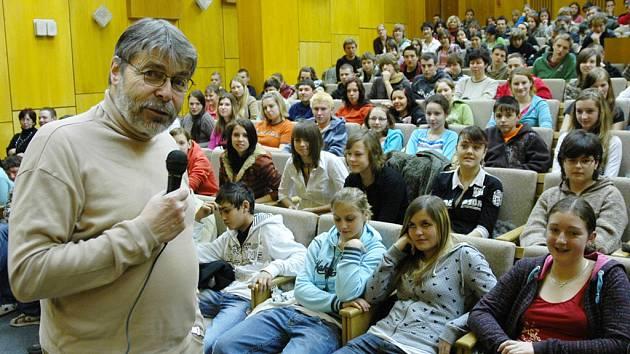 Radim Uzel besedoval se žáky