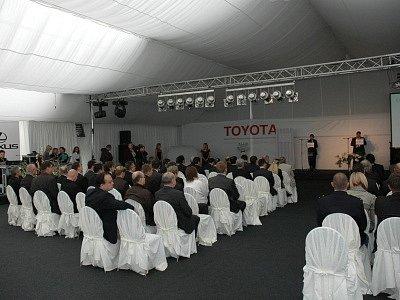 Slavnostní otevírání Toyoty v krupské zóně