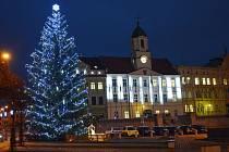 Vánoční stromy nám. Svobody Teplice