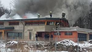 Požár v Teplicích, v lokalitě Nová Ves