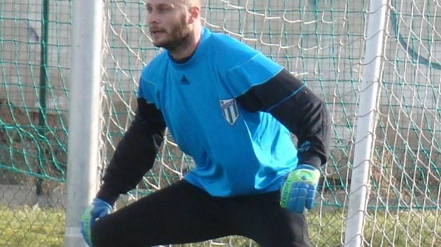 Martin Slavík v dresu Baníku Modlany.
