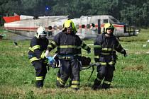 Taktické cvičení, pád letadla u Kateřiny.
