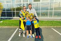 Admir Ljevaković s rodinou.