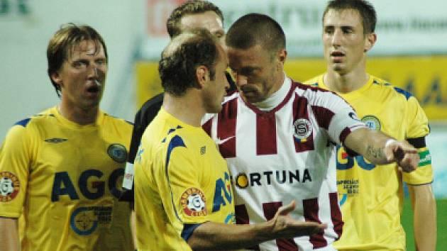 Z nedělního večerního utkání FK Teplice proti AC Sparta Praha